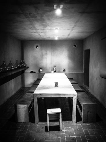 Das Hinterzimmer der Bar im Mercado san Cosme
