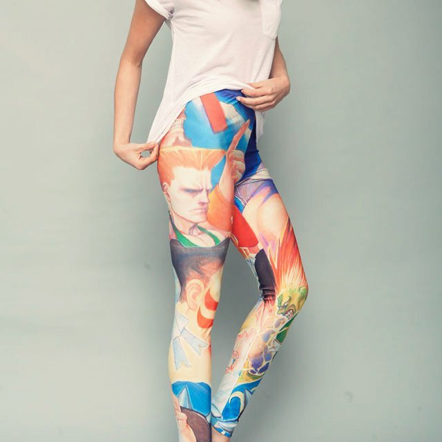 Street Fighter II Leggings by Insert Coin Clothing