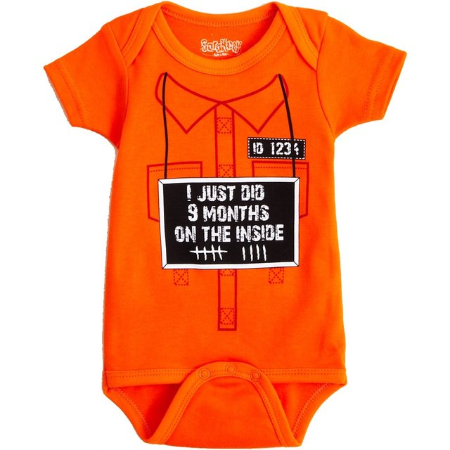I Just Did 9 Months on the Inside Baby Bodysuit by Sara Kety - 0-6 or 6-12 Months