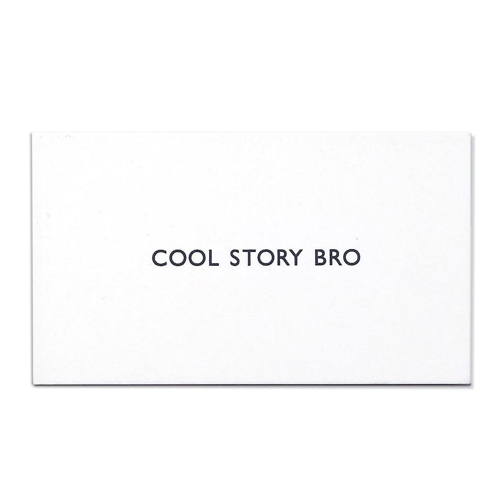 Cool Story Bro Visitenkarte von Terrapin Stationers