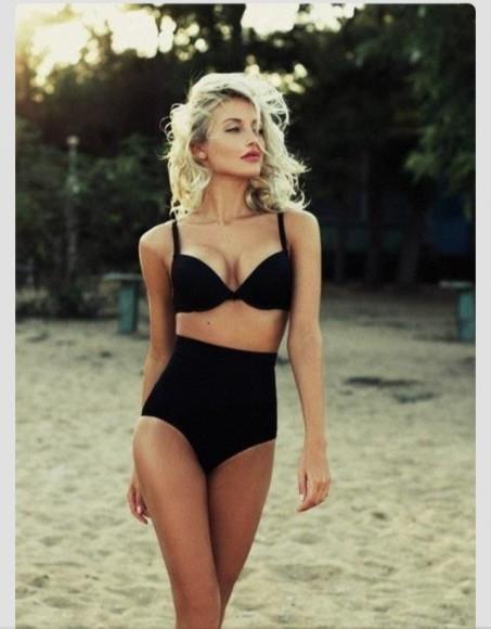 Bikini mit hochgeschnittener Taille