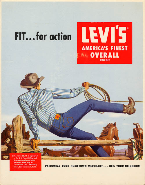 Levis Vintage Advertising