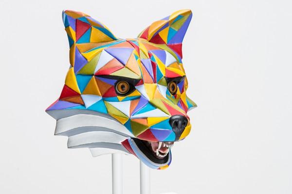 Skulptur vom Hamburger Künstler Holzweg