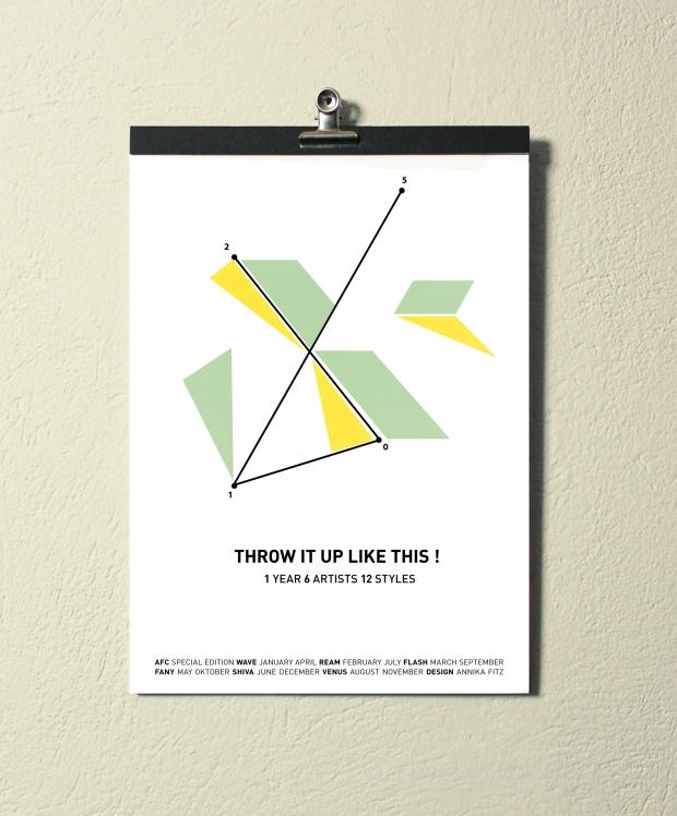 Throw It Up Like This - Der Kalender für Graffiti Nerds
